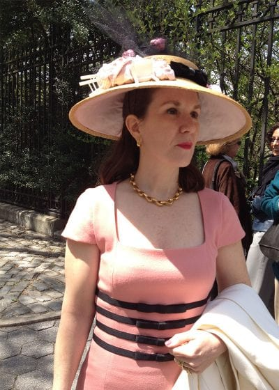 lady wearing elegant hat
