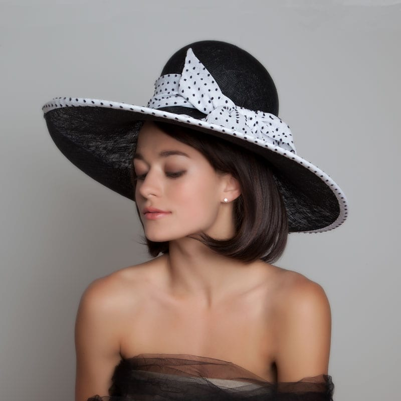 black and white race day hat 41f244b838e