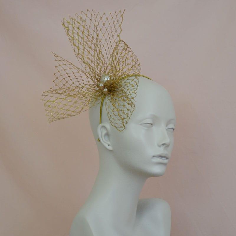 golden glamorous headband