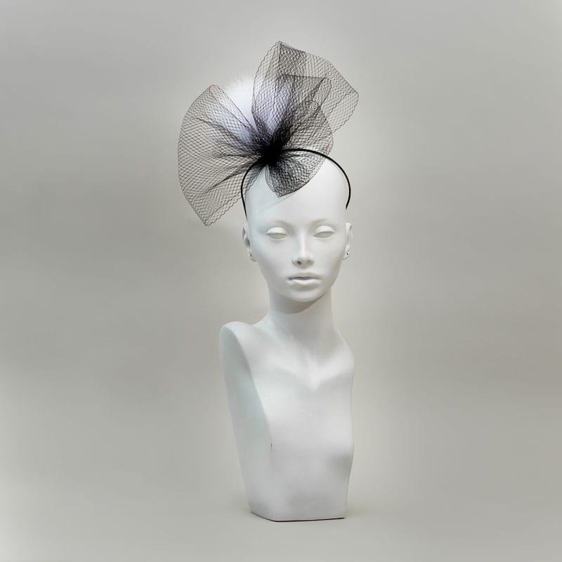 black veil headband