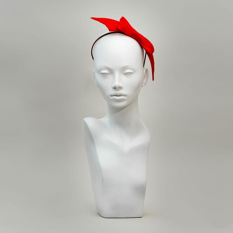 red silk headband
